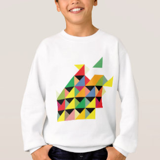 Fantastische Dreieck-Druck-Hypnotik Sweatshirt