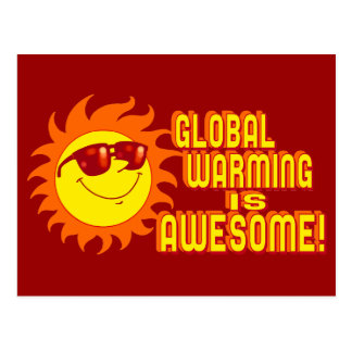 Fantastische globale Erwärmung Postkarte