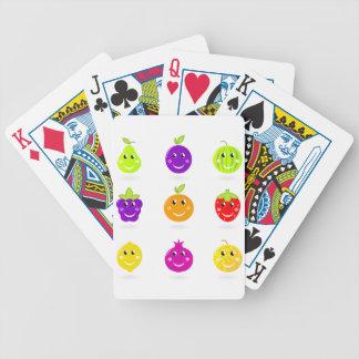 Fantastische Hand gezeichnete Frucht-Sammlung Bicycle Spielkarten