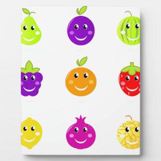 Fantastische Hand gezeichnete Frucht-Sammlung Fotoplatte