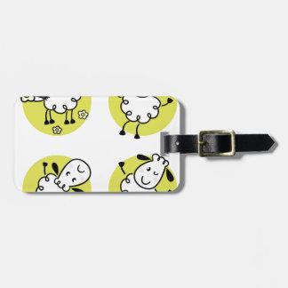 Fantastische kleine Baby Lamm-Gekritzelcharaktere Gepäckanhänger