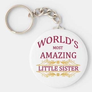 Fantastische kleine Schwester Standard Runder Schlüsselanhänger