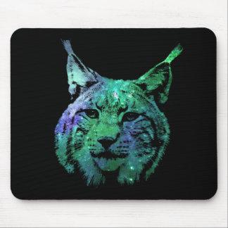 fantastische kosmische wilde Katze des Raum-3D des Mauspads