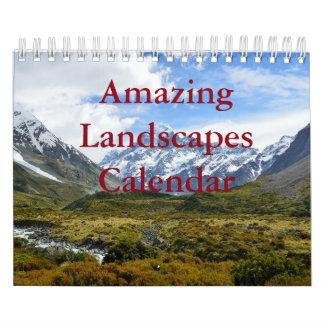Fantastische Landschaften zwei paginieren, Wandkalender