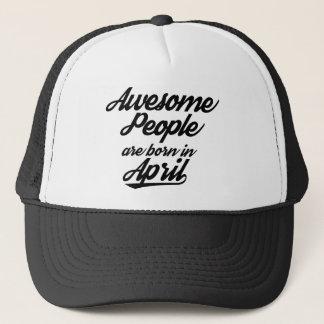 Fantastische Leute sind im April geboren Truckerkappe