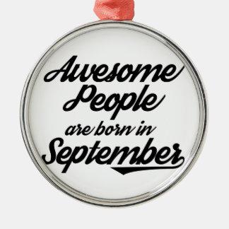 Fantastische Leute sind im September geboren Rundes Silberfarbenes Ornament
