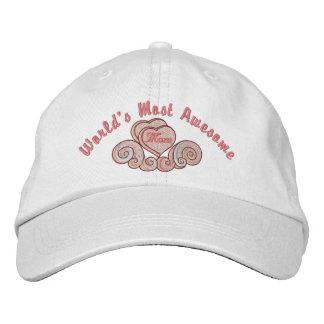 Fantastische Mamma-Herzen Bestickte Kappen