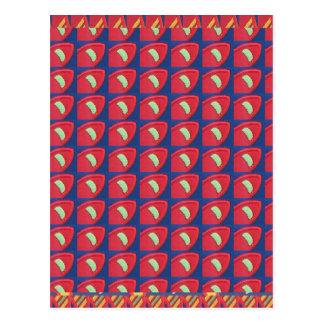 Fantastische Muster-bunte Grafik-Digital-schöne Postkarte