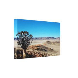 Fantastische namibische Landschaft dehnte Leinwanddruck