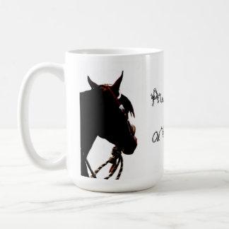 Fantastische Pferde sind nicht gerade geborene Kaffeetasse