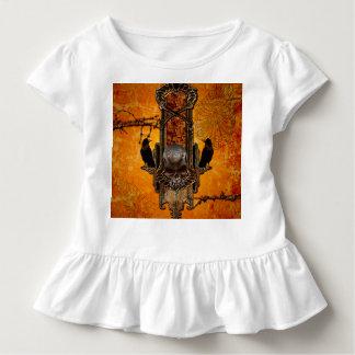 Fantastische Schädel und Krähe Kleinkind T-shirt