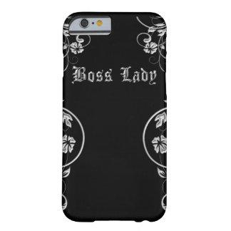 Fantastische schwarze und silberne Chef-Dame Barely There iPhone 6 Hülle