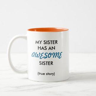 Fantastische Schwester-Tasse Zweifarbige Tasse
