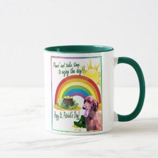 Fantastische Setter-St Patrick Tageskaffee-Tasse Tasse