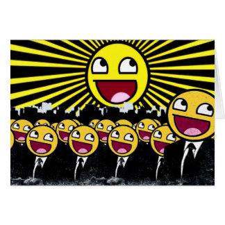 Fantastische Smileygelber Emoticon Grußkarte