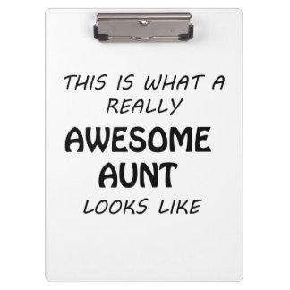 Fantastische Tante Klemmbrett