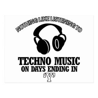 fantastische Techno Musikentwürfe Postkarte