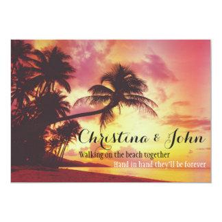 Fantastische tropische Wedding 12,7 X 17,8 Cm Einladungskarte