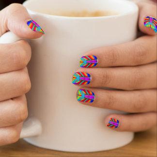 Fantastische vibrierende symmetrische abstrakte minx nagelkunst