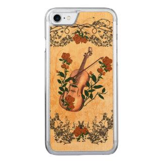Fantastische Violine mit Violinenbogen Carved iPhone 8/7 Hülle