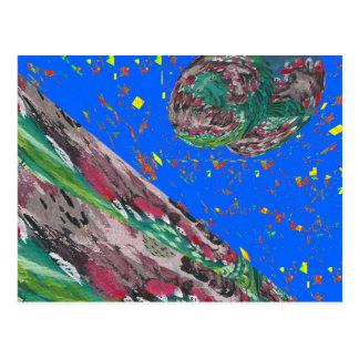 Fantastische WELLEN Flut-Erdhimmelspaß Postkarte