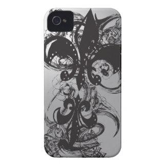 Fantastischer Black Fleur De Les Case-Mate iPhone 4 Hülle