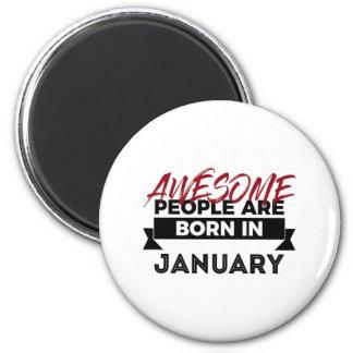 Fantastischer geborener im Januar Baby-Geburtstag Runder Magnet 5,7 Cm