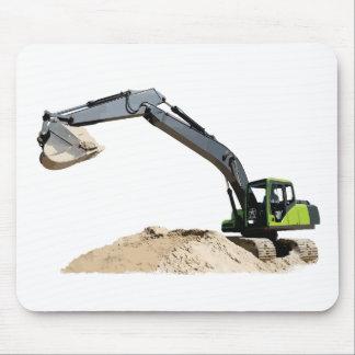 Fantastischer großer grüner Bau-Bagger #4 Mousepads