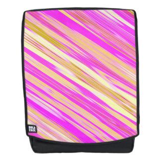 Fantastischer heller rosa diagonaler Entwurf Rucksack