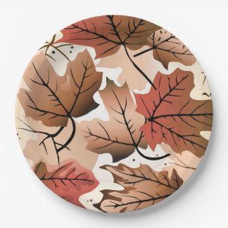 Fantastischer Herbst-Waldboden-Papier-Teller Pappteller