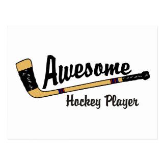 Fantastischer Hockey-Spieler Postkarte