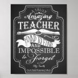 Fantastischer Lehrer ist unmöglich zu vergessen Poster
