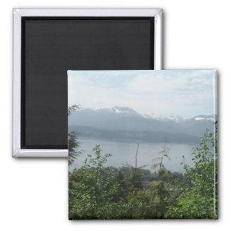 Fantastischer Mountain View Quadratischer Magnet