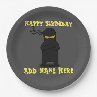 Fantastischer Ninja Geburtstags-Papier-Teller Pappteller