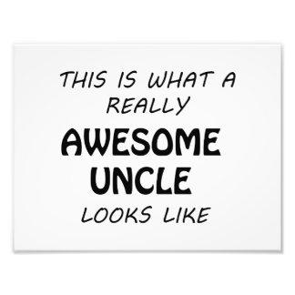 Fantastischer Onkel Fotodruck