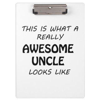 Fantastischer Onkel Klemmbrett
