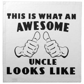 Fantastischer Onkel Stoffserviette