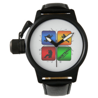 Fantastischer Paintball-städtische Art Armbanduhr