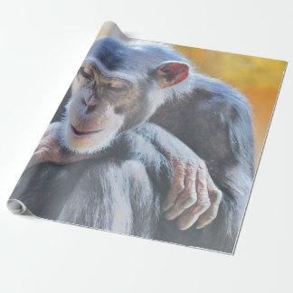 fantastischer Schimpanse 1016 Geschenkpapier