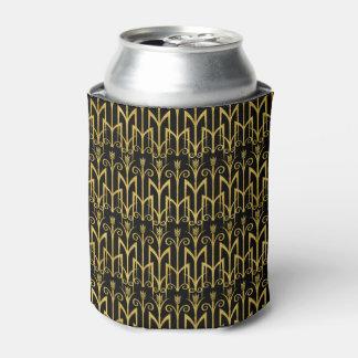 Fantastischer Schwarz-Goldkunst-Deko-Entwurf Dosenkühler