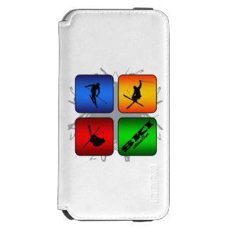 Fantastischer Ski-städtische Art Incipio Watson™ iPhone 6 Geldbörsen Hülle