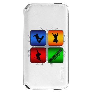 Fantastischer Snowboarding-städtische Art Incipio Watson™ iPhone 6 Geldbörsen Hülle