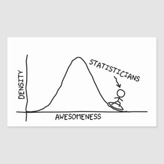 Fantastischer Statistiker-Aufkleber Rechteckiger Aufkleber