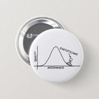 Fantastischer Statistiker-Knopf Runder Button 5,1 Cm