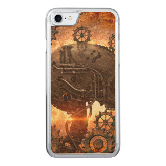 Fantastischer steampunk Schädel Carved iPhone 8/7 Hülle