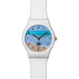 Fantastischer Strand-tropisches Uhr