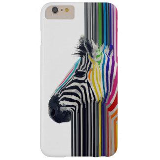fantastischer trendy bunter vibrierender Streifen Barely There iPhone 6 Plus Hülle