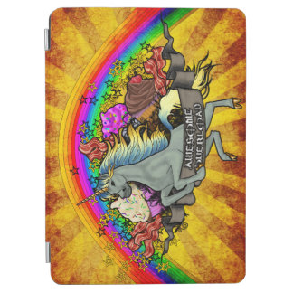 Fantastischer Überlastungs-Unicorn, Regenbogen u. iPad Air Cover