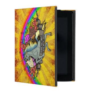 Fantastischer Überlastungs-Unicorn, Regenbogen u. iPad Schutzhülle
