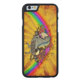 Fantastischer ÜberlastungUnicorn, Regenbogen u. Carved® iPhone 6 Hülle Ahorn